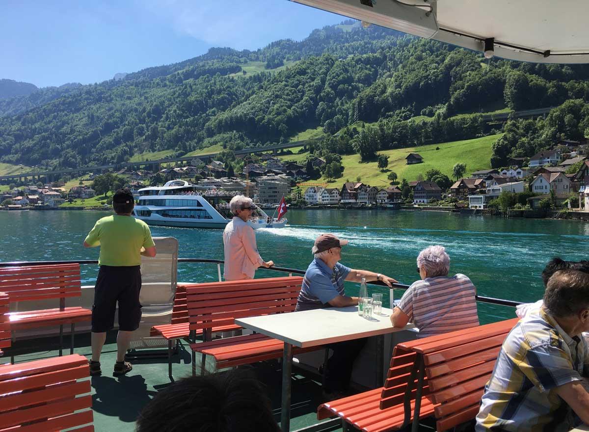 Senioren-Ausflug mit Schiff auf dem Vierwaldstättersee