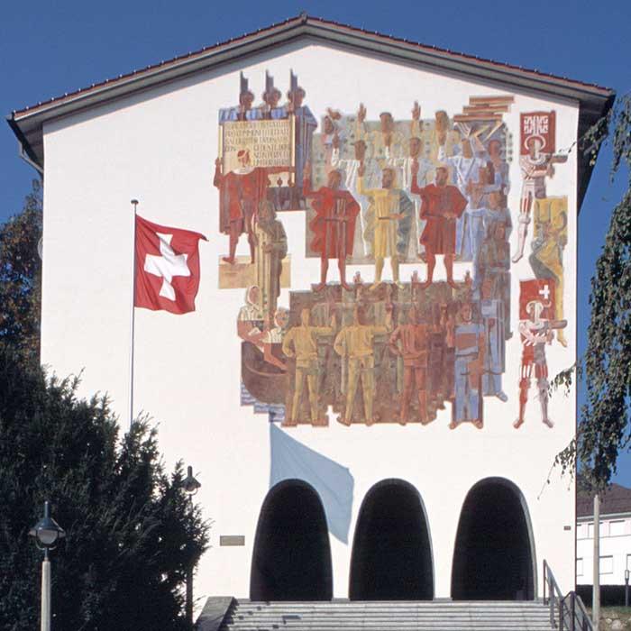 Christines Seniorenbetreuung besucht das Bundesbriefarchiv in Schwyz.
