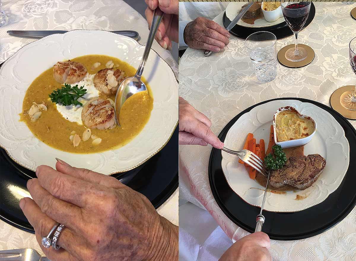 Christine Thaddey kocht für ein Seniorenpaar