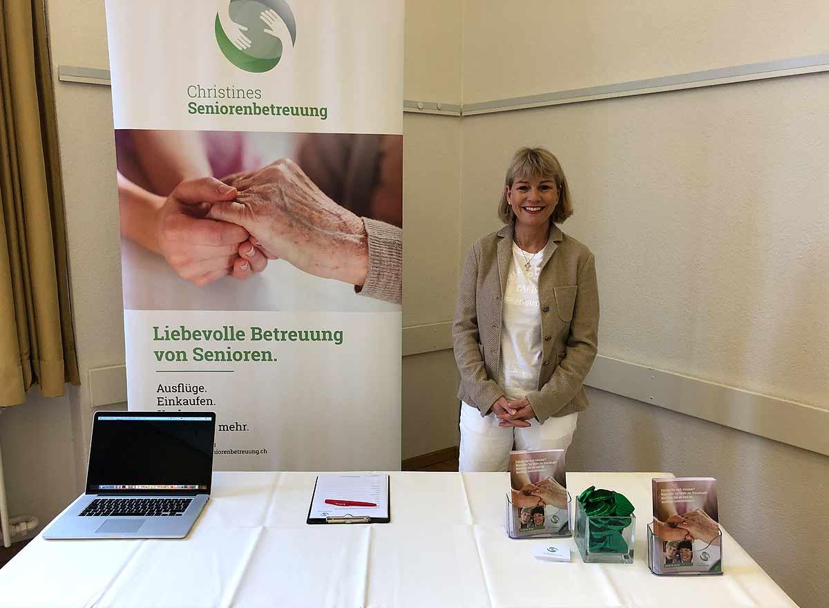 Christines Seniorenbetreuung war an der 15. Alterskonferenz in Zürich Aussteller