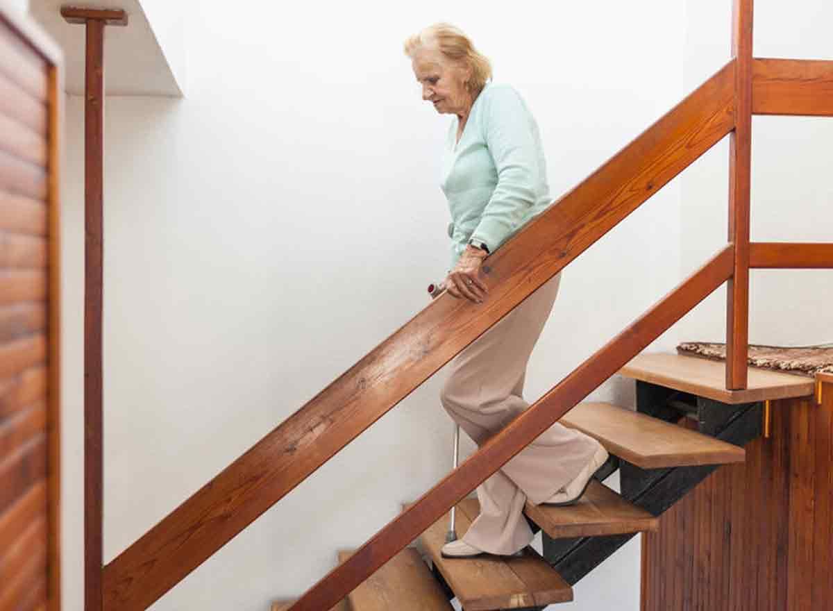 Treppensteigen ist gesund für Senioren
